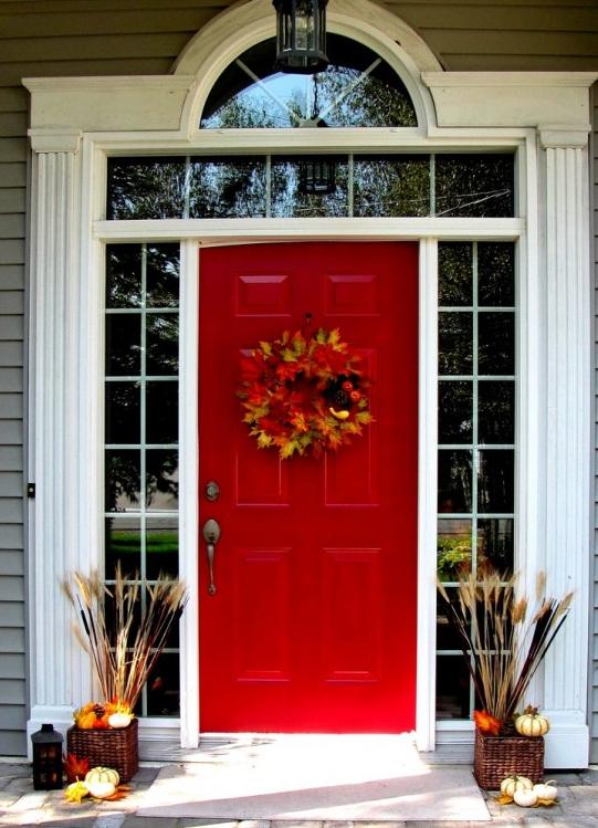 I love a vibrant red door. So classic.