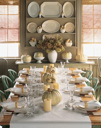 A Martha Stewart table setting.