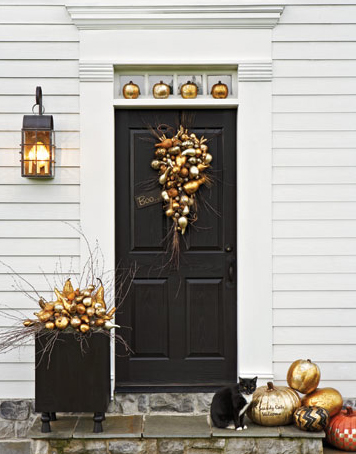 A beautiful Fall front door I found on Pinterest.