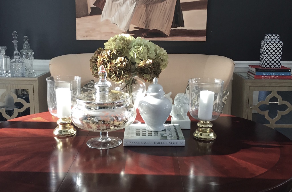 An arrangent on my dining room table...I love to display things that I love together. It makes me happy to look at the things I  love - like art!