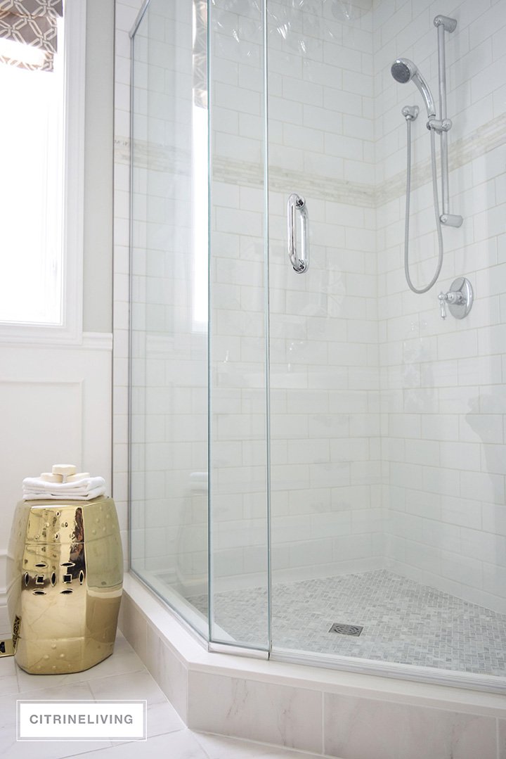 Fabulous MARBLE SHOWER FLOOR - CITRINELIVING UU26
