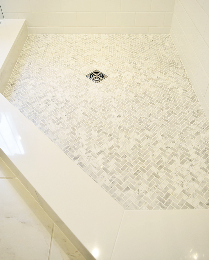 Perfect MARBLE SHOWER FLOOR - CITRINELIVING ZT83