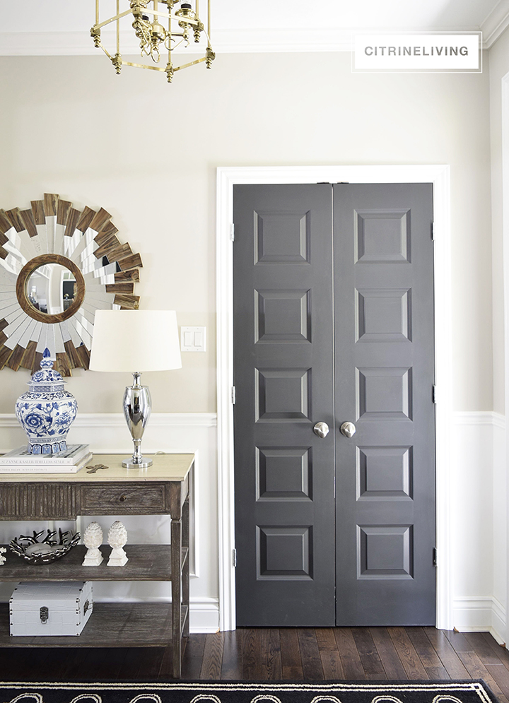 Use sophisticated black interior doors to make a strong design statement throughout your home.