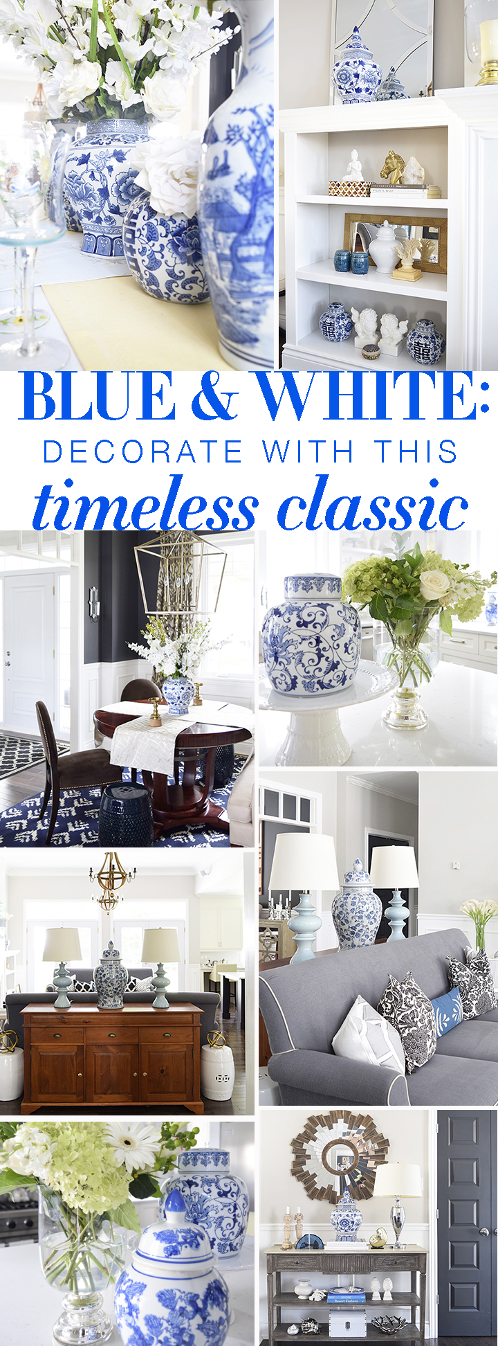 Decorating With Blue And White!