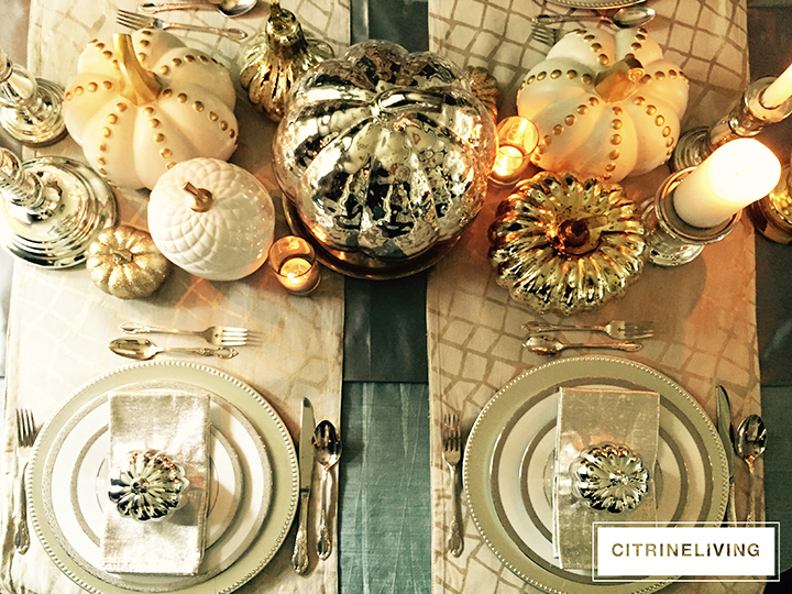 fall-tablescape-mercury-glass-pumpkins