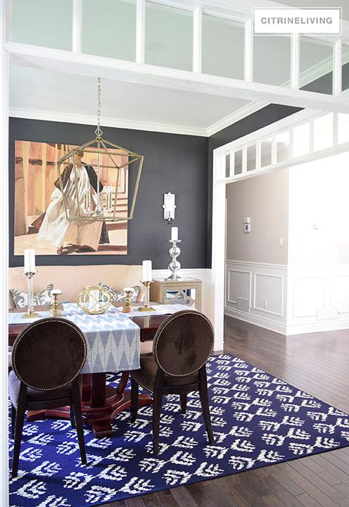ikat-rug-target-layered-dining-room