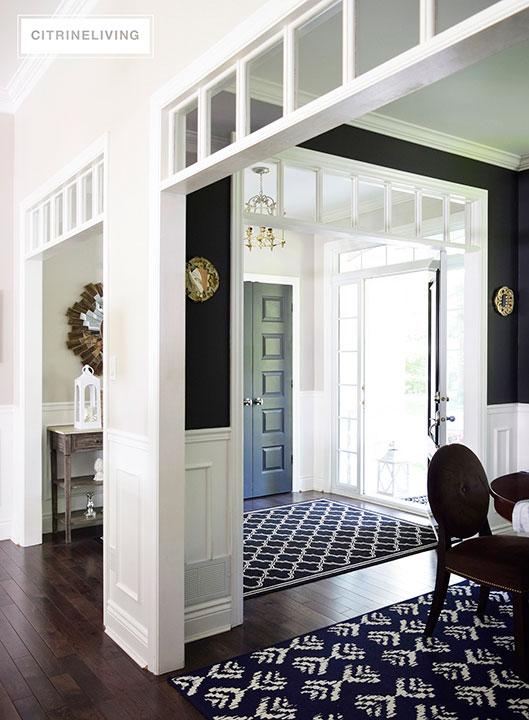 open-concept-black-walls-dining-room
