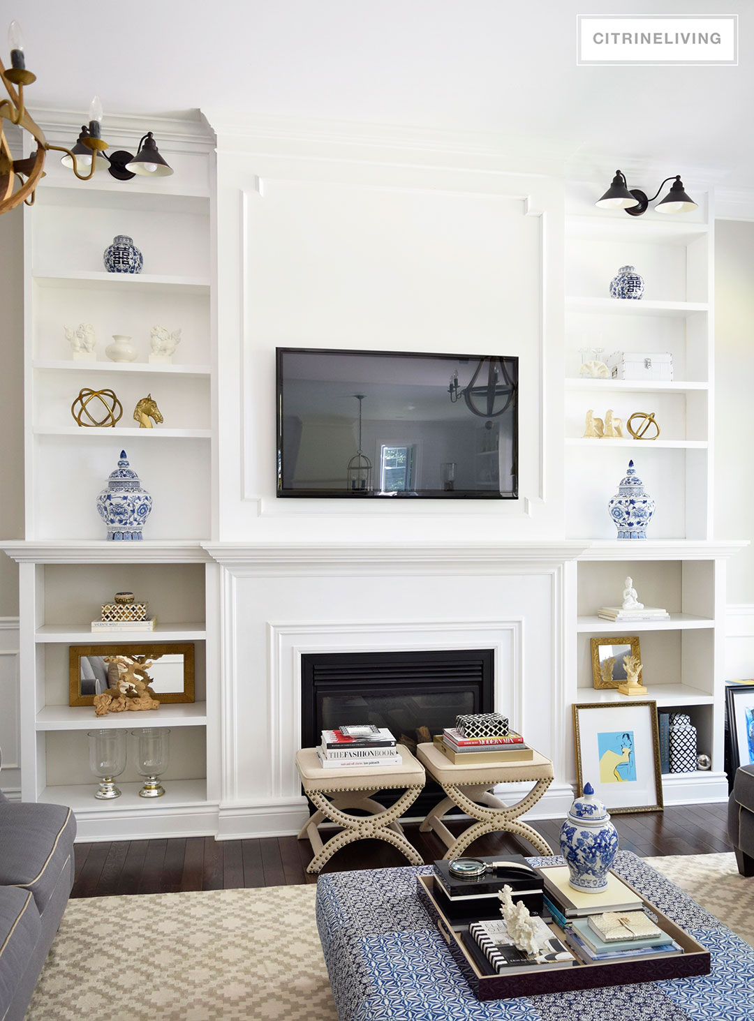 CITRINELIVING : LIVING ROOM BOOKSHELVES