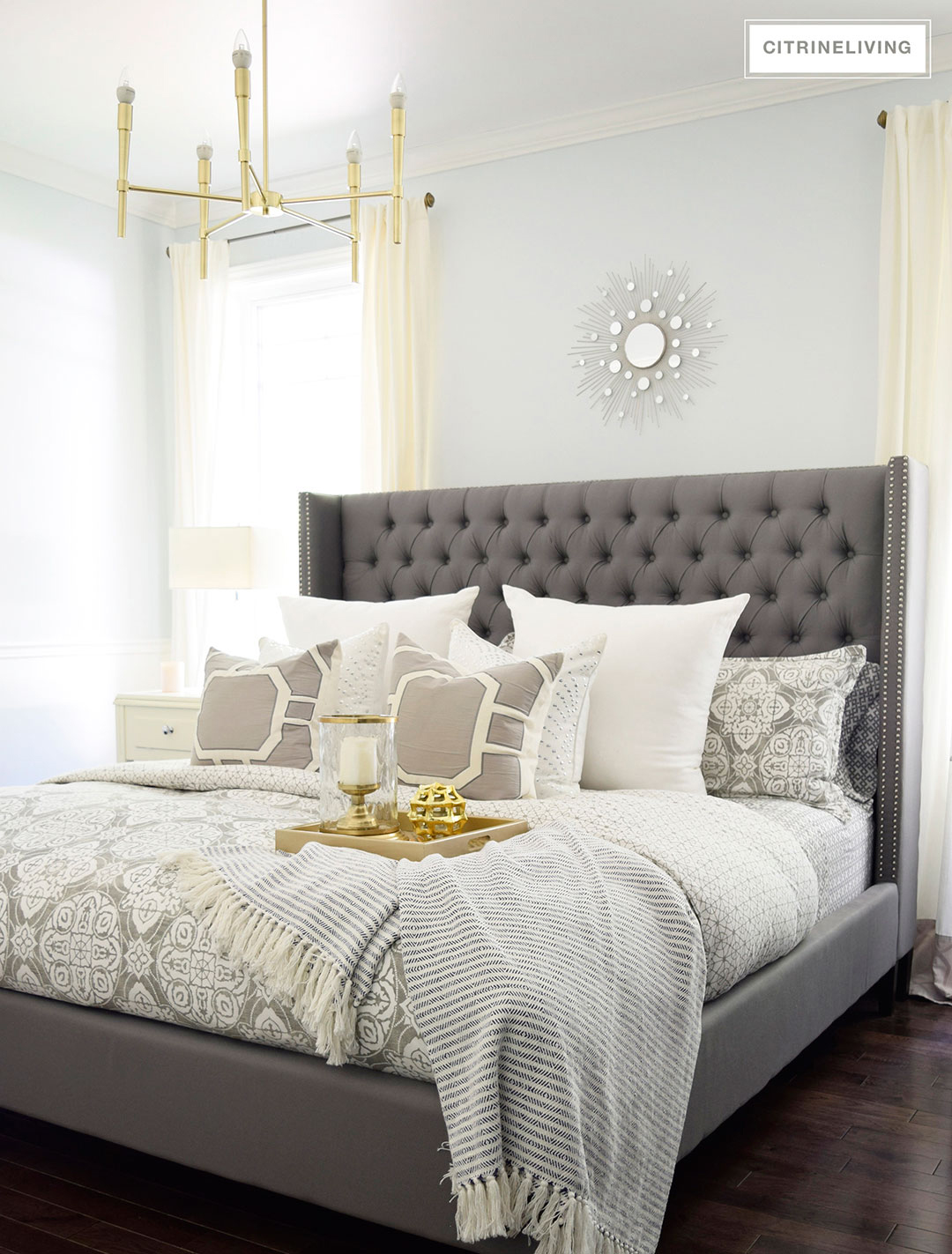 Changing the bedding for fall and winter for Winter bedroom
