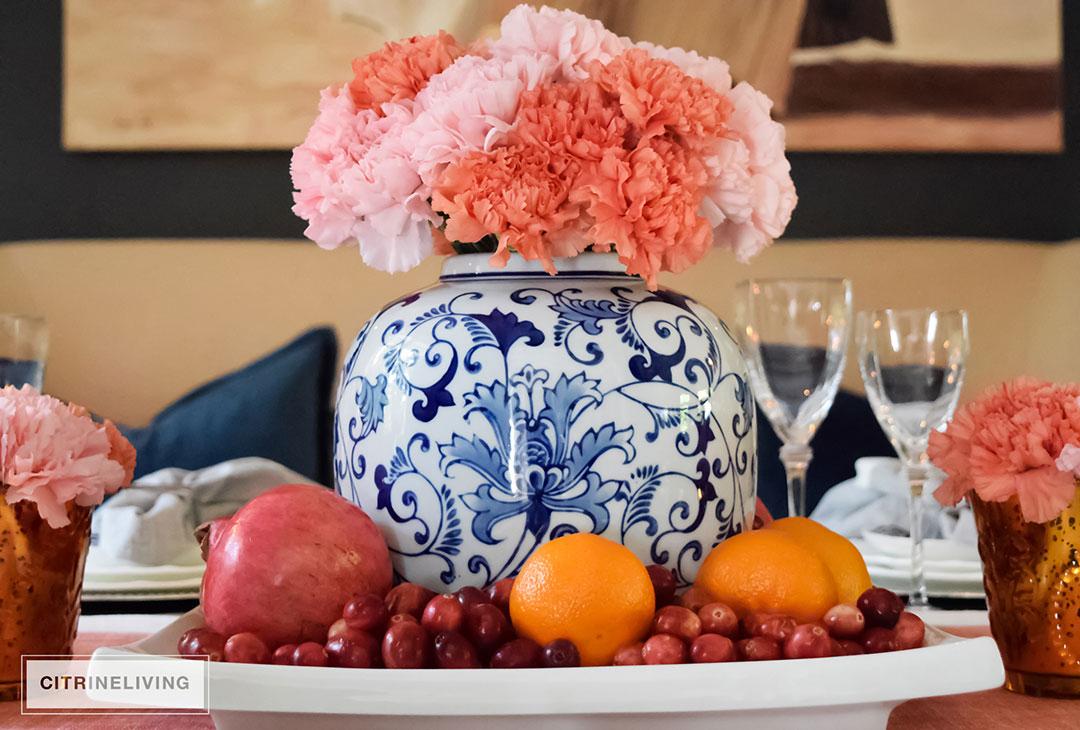thanksgiving-table-ginger-jar-pink-flowers5