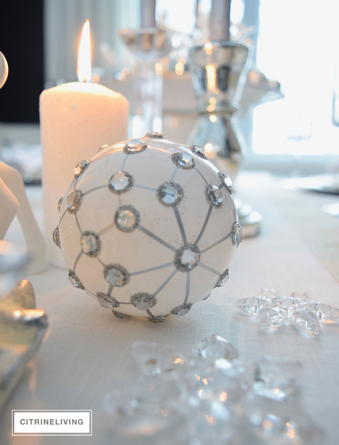 white-silver-christmas-ornament