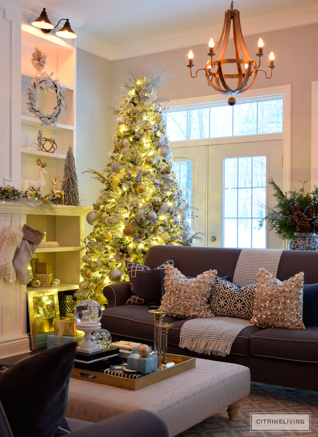 flocked-christmas-tree-nighttime-living-room2
