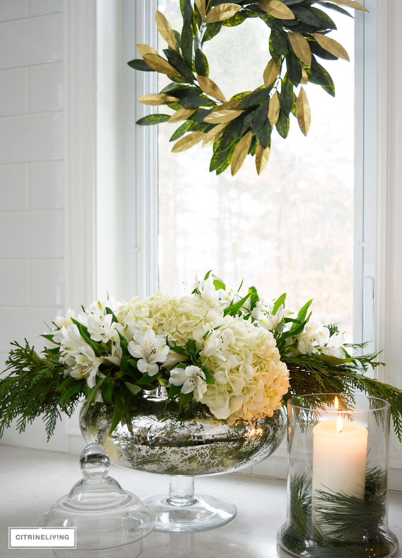 fresh-flowers-greenery-gold-magnolia-wreath