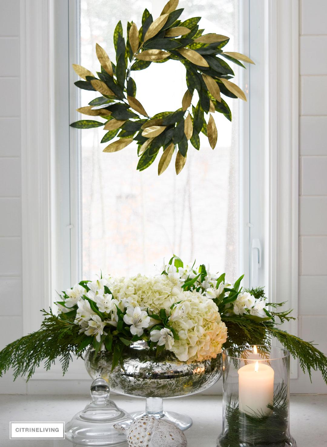 fresh-flowers-greenery-gold-magnolia-wreath3