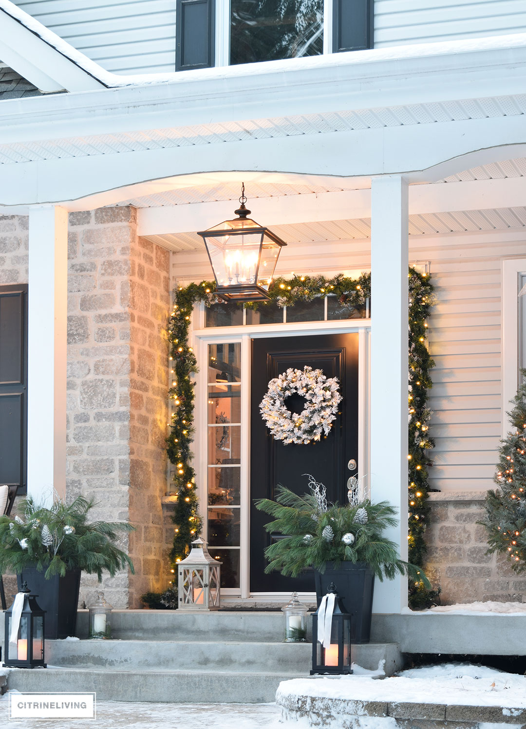Citrineliving outdoor christmas decor and new lighting aloadofball