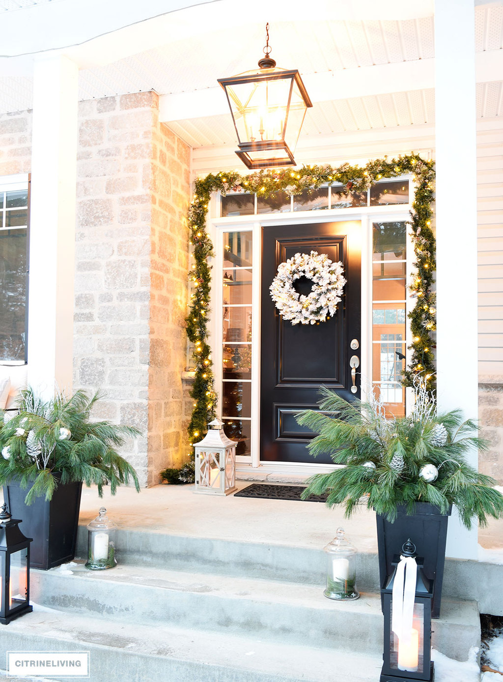 citrineliving outdoor christmas decor and new lighting