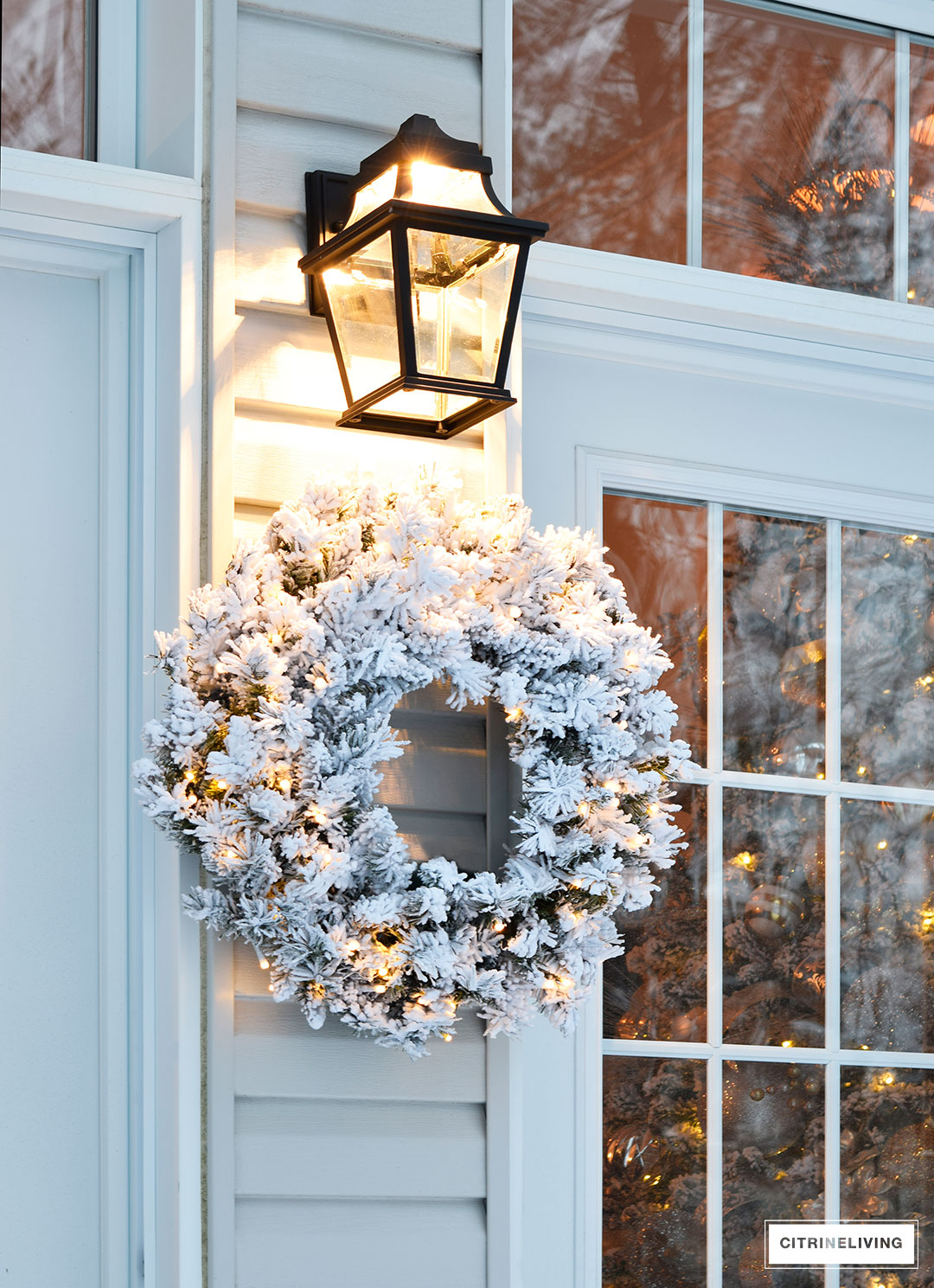 outdoor-lighting-flocked-wreath-french-doors2