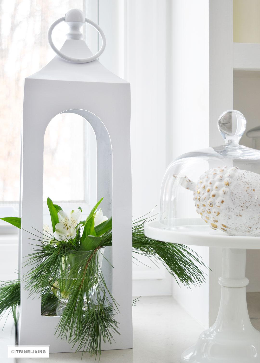 pottery-barn-lantern-fresh-flowers