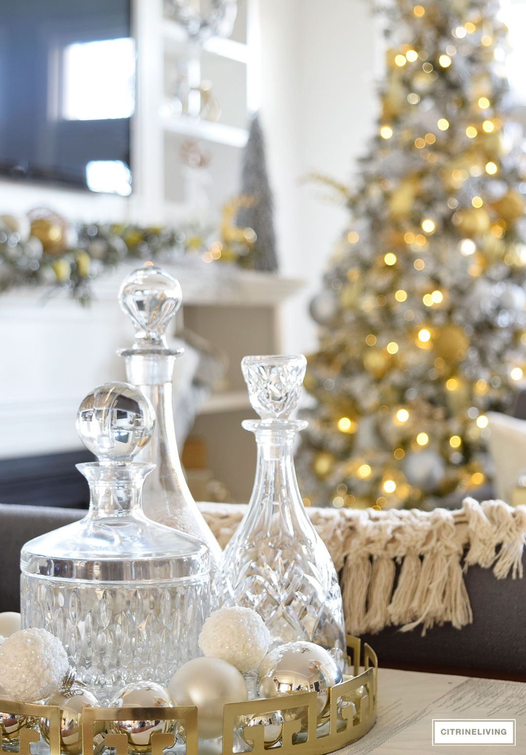 wine-decanter-collection-christmas-tree