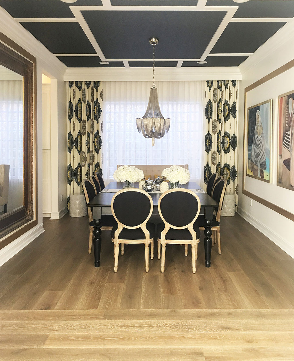 Black Dining Room 2017: A FLORIDA HOME WHERE COMFORT MEETS GLAM