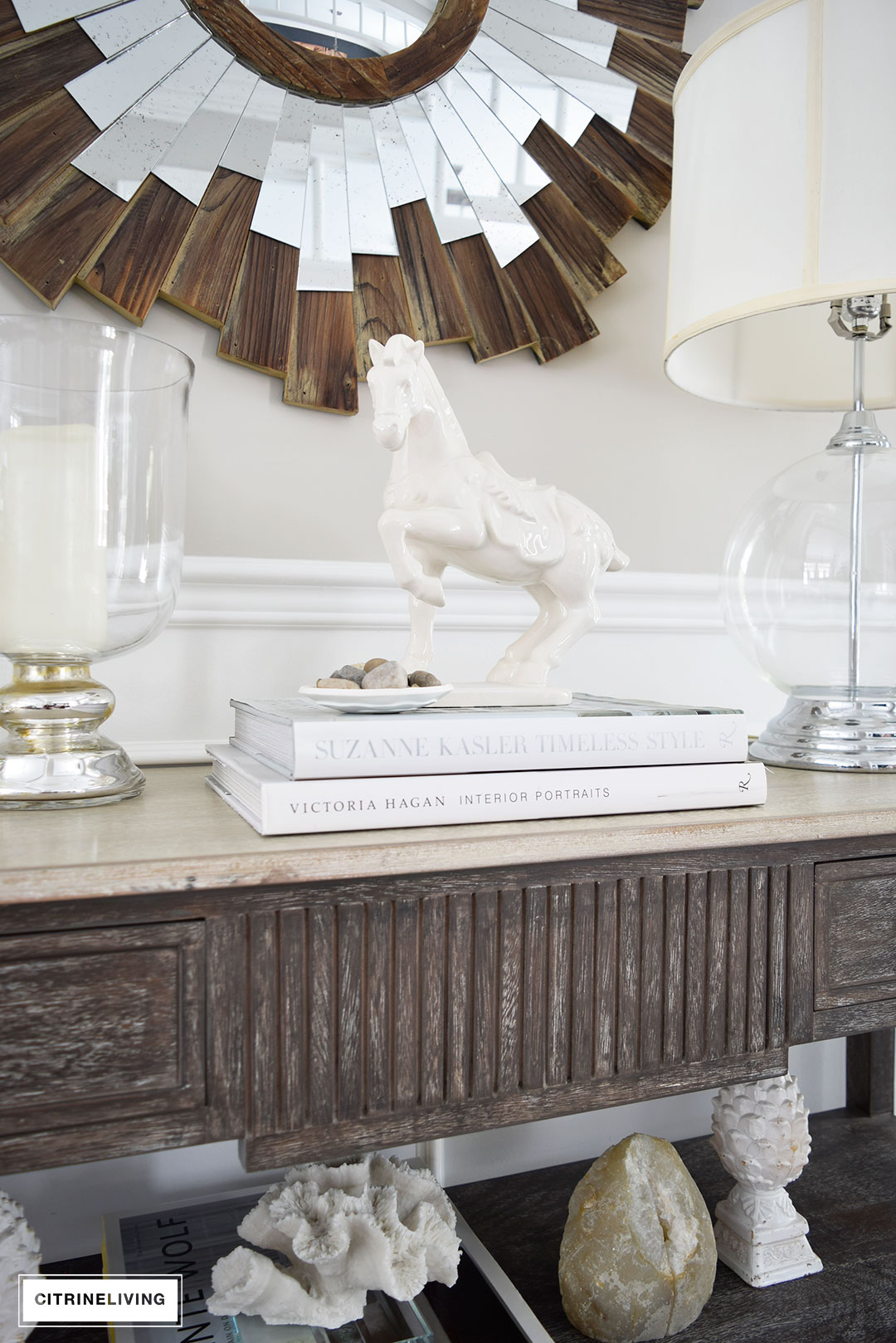 ONE CONSOLE TABLE FOUR DIFFERENT WAYS