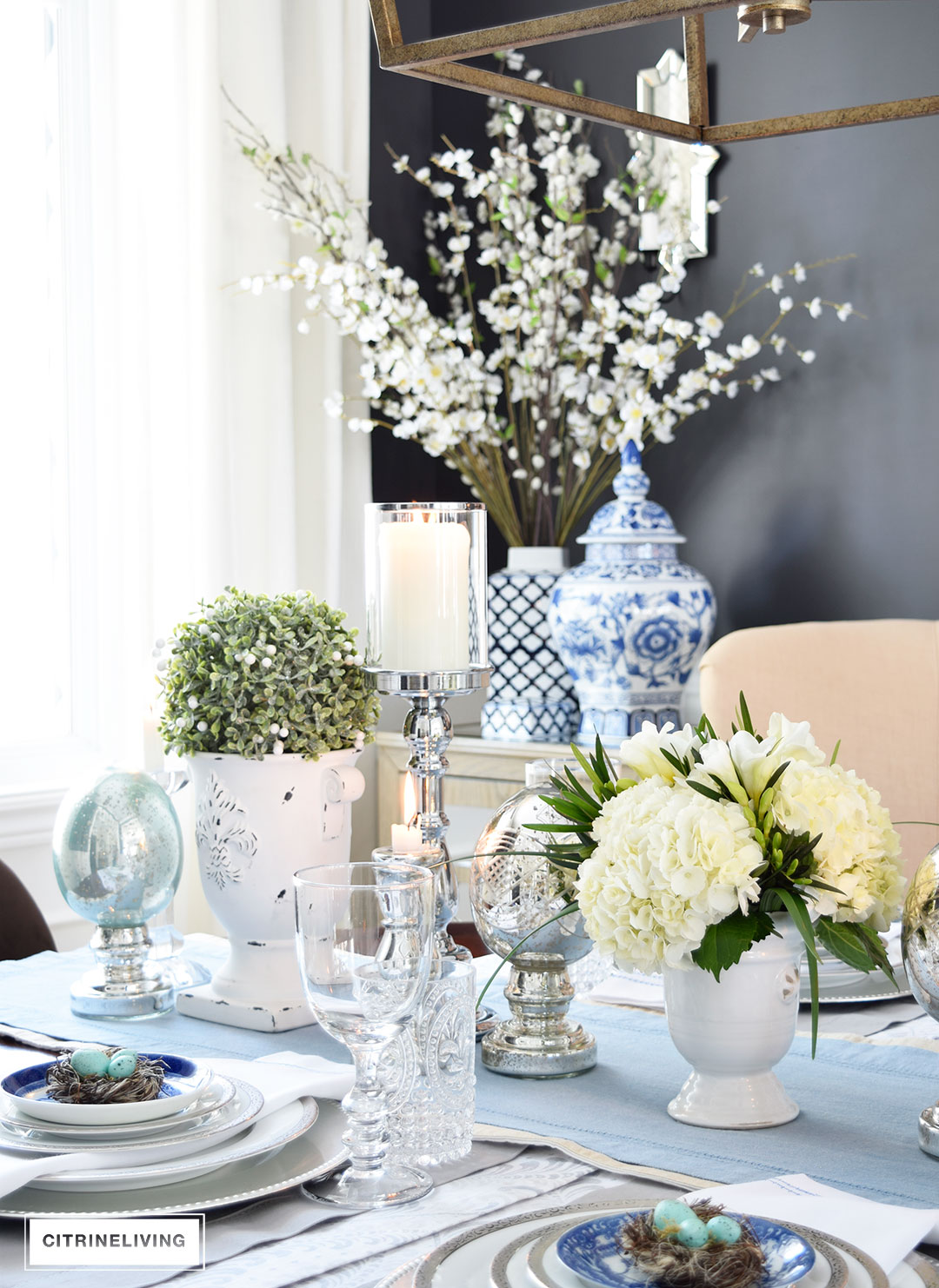 Citrineliving A Simple And Elegant Easter Tablescape