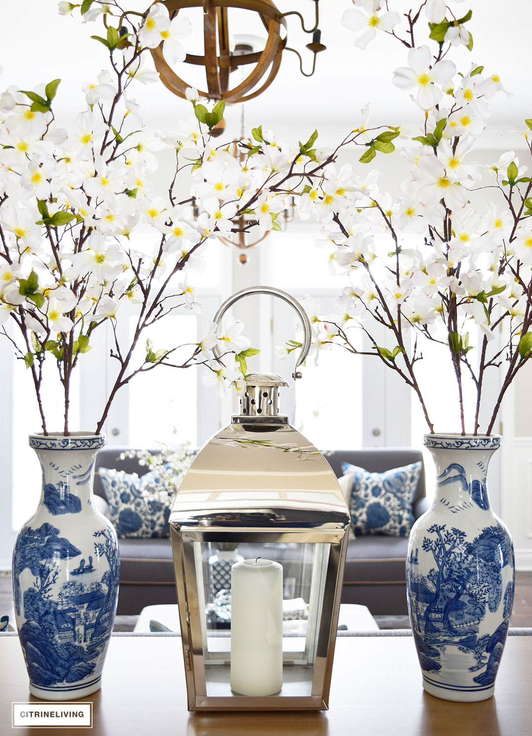 Bring freshness to your home this Spring with layers of beautiful blues, fresh and faux florals, and new modern art and textiles.