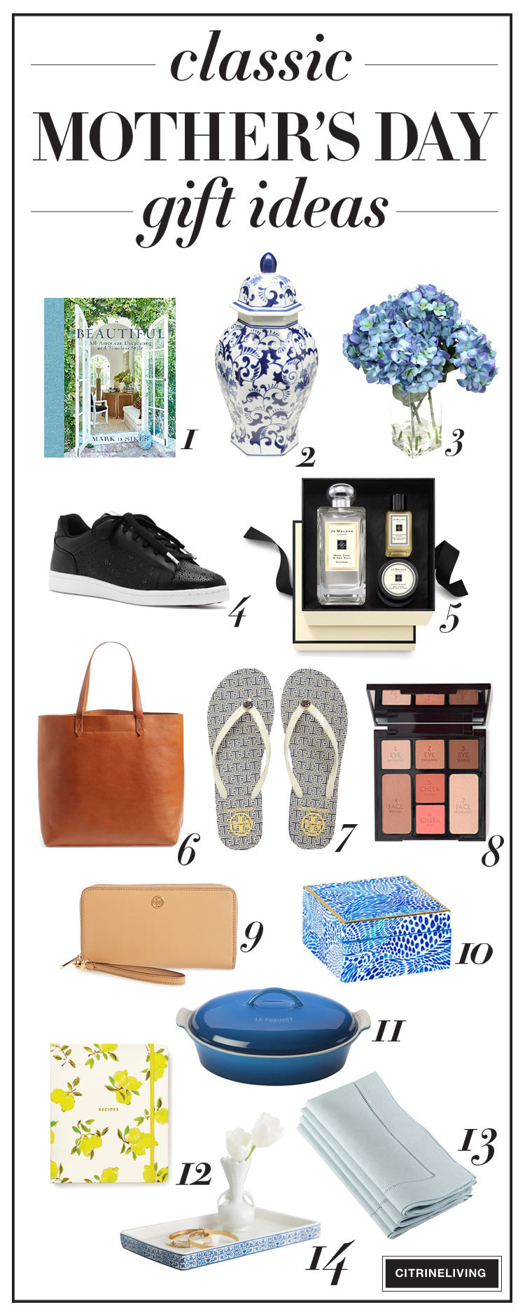 Classic Mother's Day gift ideas for mom or yourself, that are sure to become favorites for years to come!