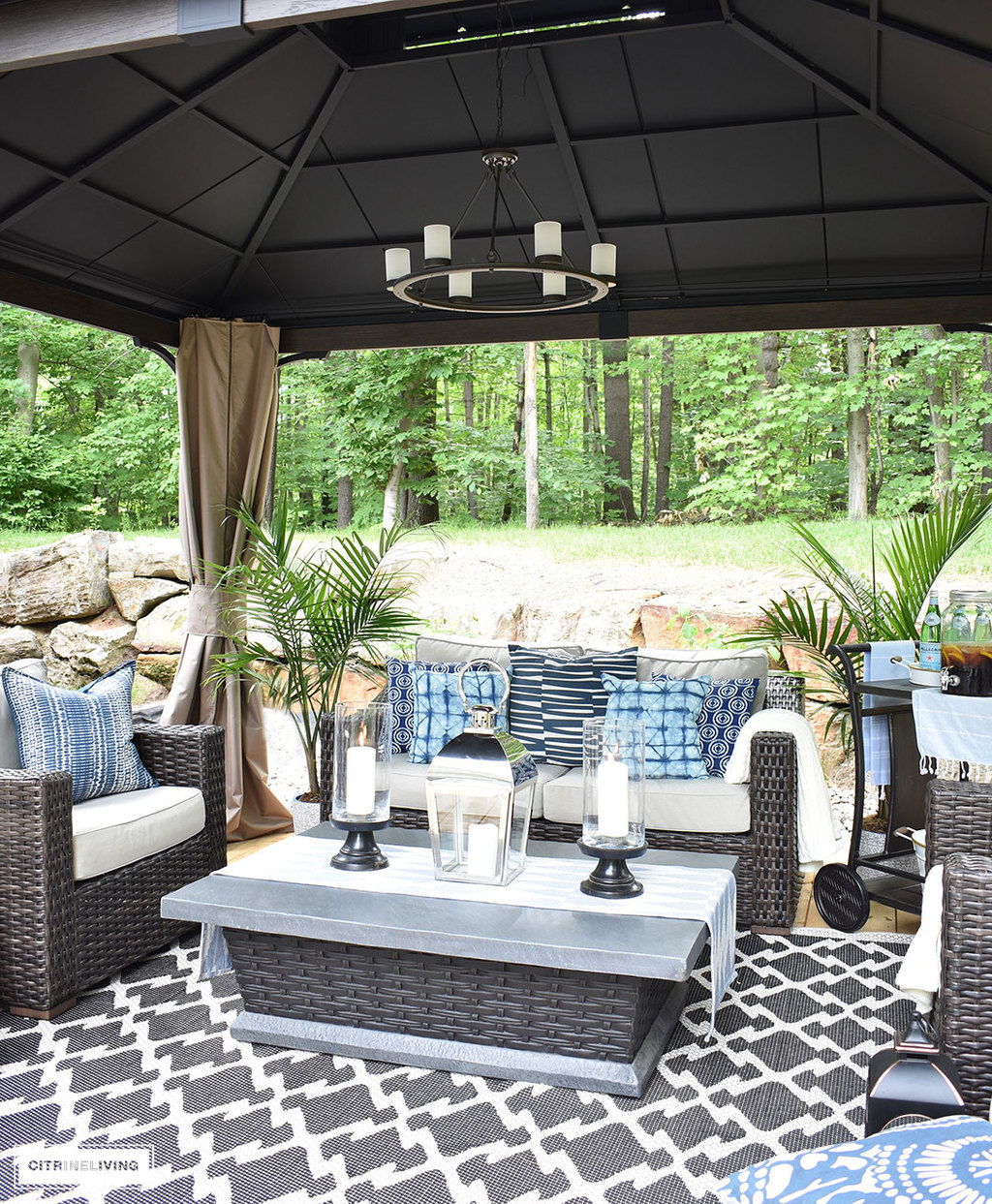 Create The Perfect Lounging Area In Your Backyard With A Beautiful Covered  Gazebo, With Added