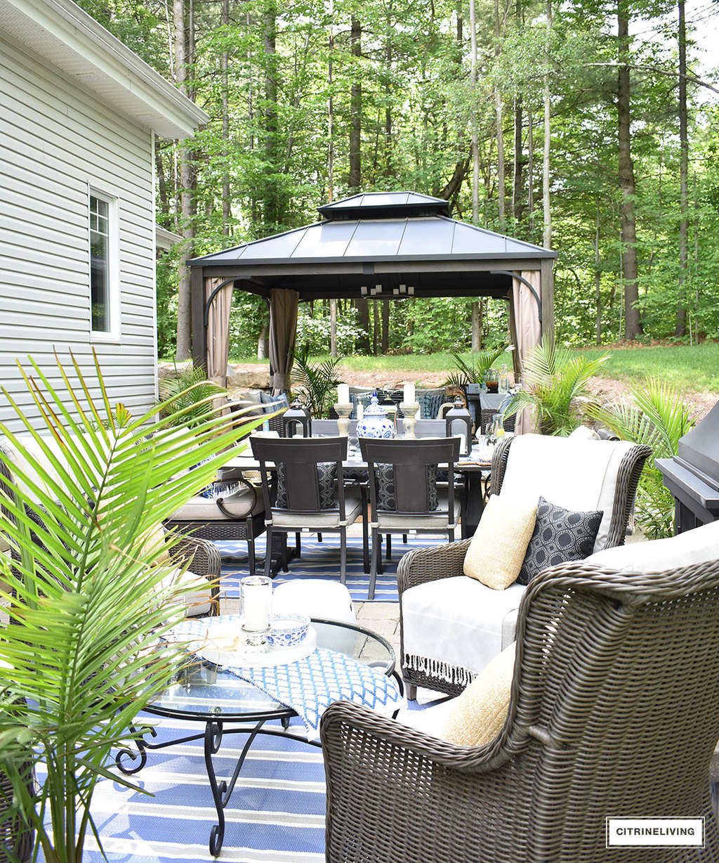 10 Ways To Create A Backyard Oasis: OUR NEW BACKYARD PATIO REVEAL