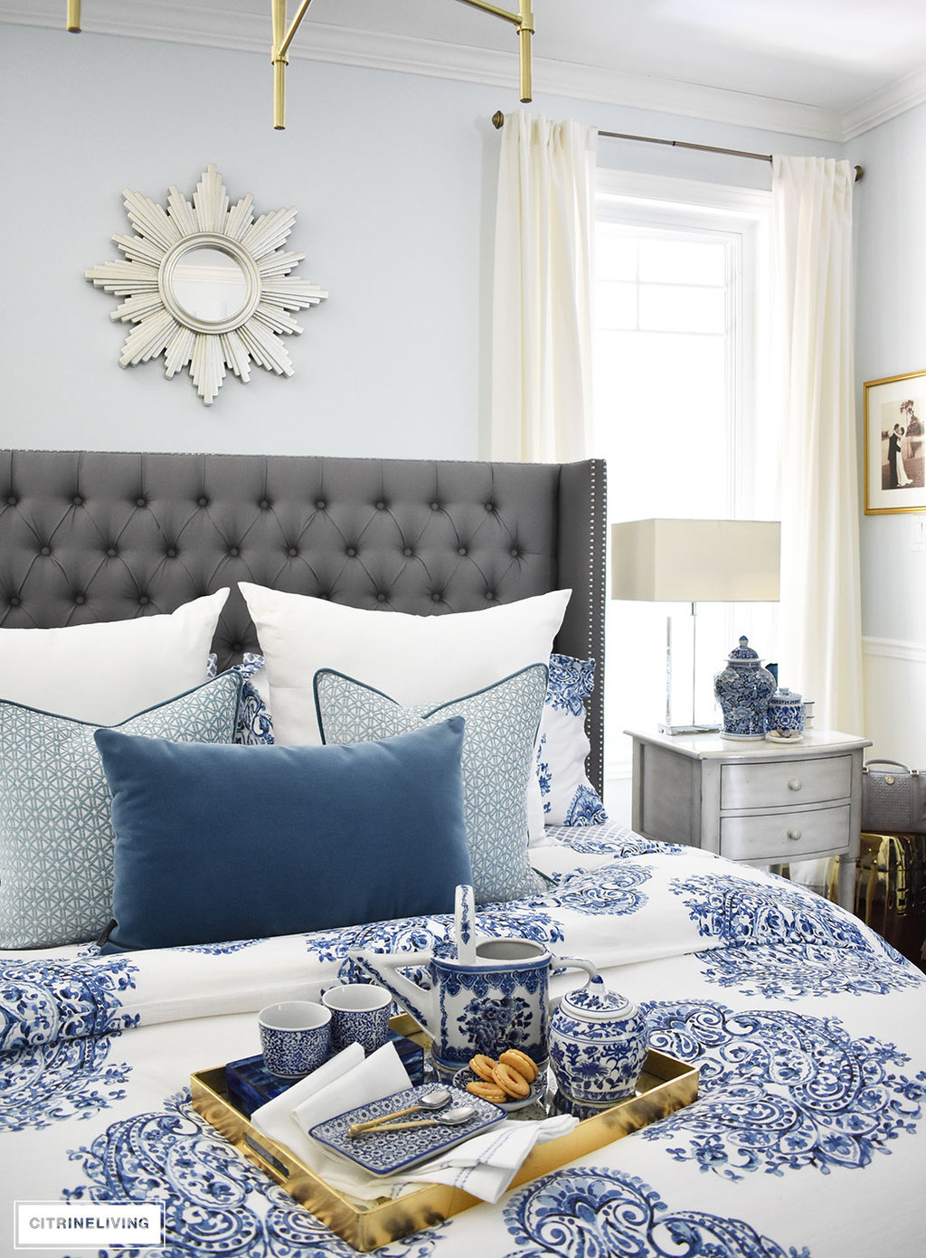A Sunburst Mirror Is Chic And Classic Addition To Any Space This Beautiful Blue