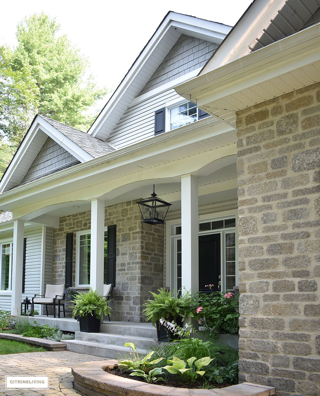 Grey Front Home Entrance Ideas With Small Terrace Can Add: OUR BACKYARD MAKEOVER REVEAL : PART 2