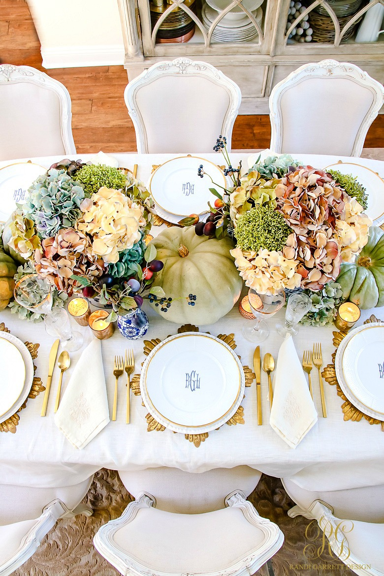 Elegant And Bountiful Thanksgiving Tablescape