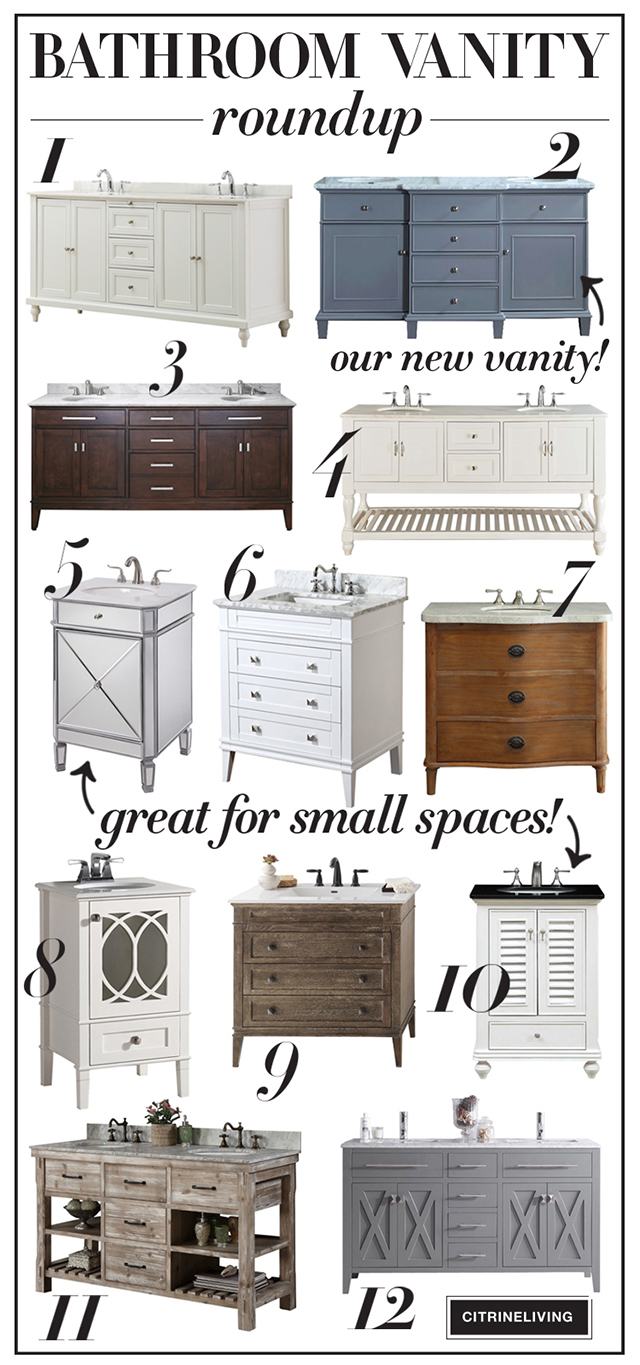 Beautiful and affordable bathroom vanities that are sure to transform and bathroom!