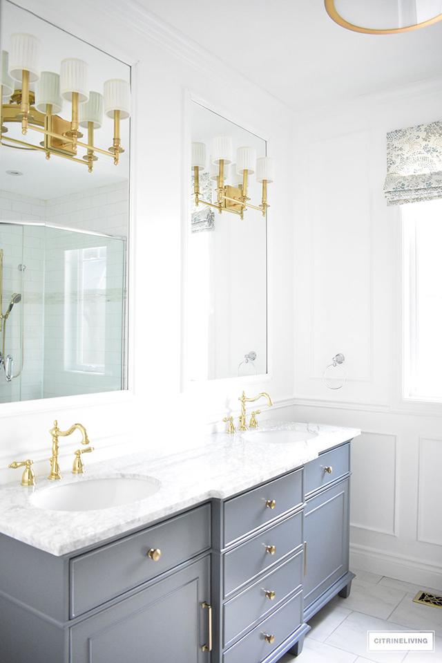 One Room Challenge Master Bath Makeover Week Five