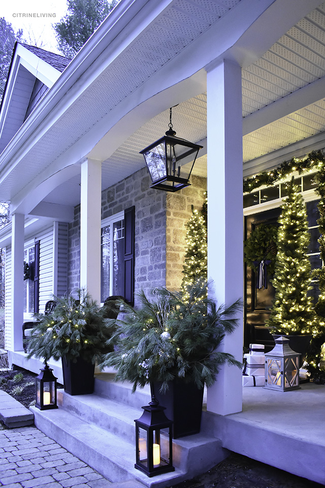 Christmas Home Tour A Classic Front Porch With Fresh