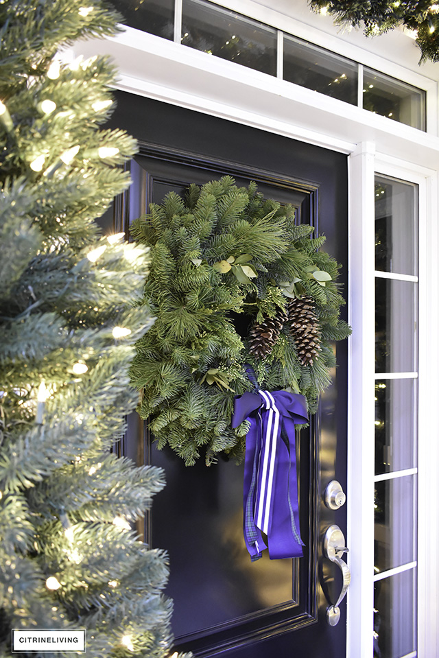 set a magical scene and welcome your guests on your christmas front porch this year with - Fresh Christmas Greenery