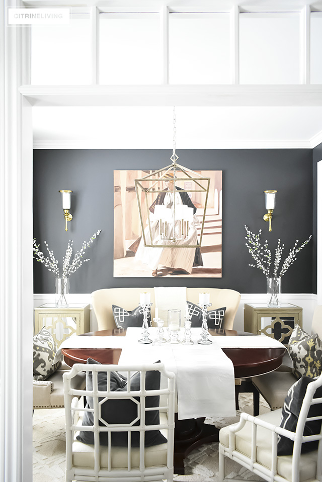 Winter decorating can be fresh and clean but still cozy and warm! Lighten things up after the holidays with a crisp, clean look!