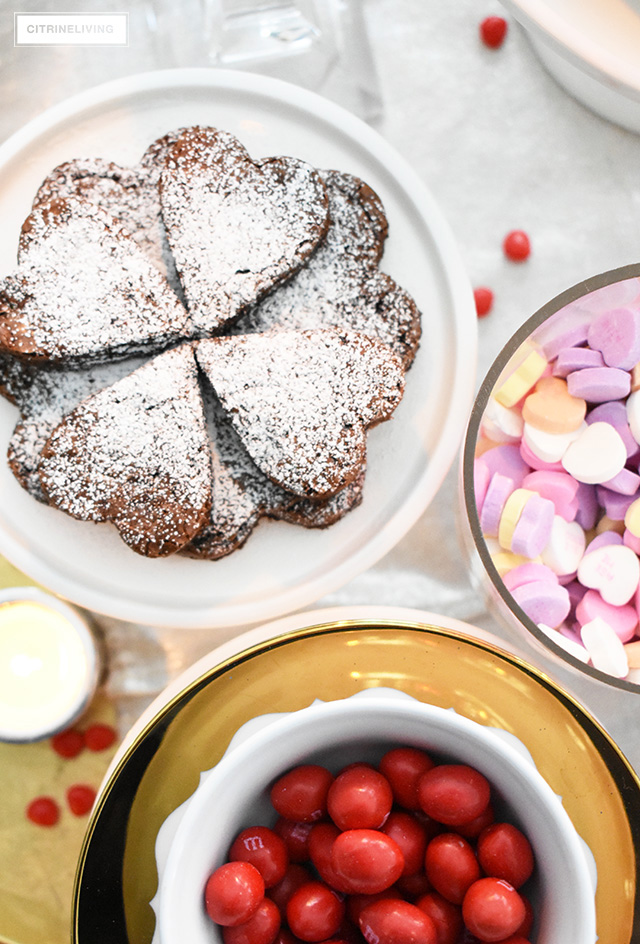 A no-fuss, quick and easy Valentine's day spread with treats the whole family will love - anyone can pull this off in no time!