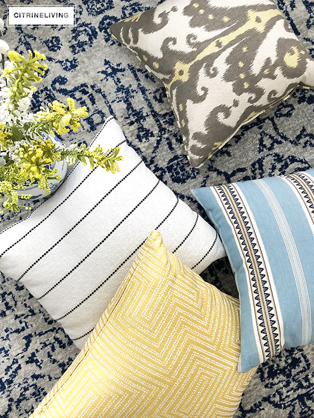 From adding a touch of your favorite color to swapping out small accessories and pillows, it is so simple to ring in the Spring season with these five go-to spring decorating tips!
