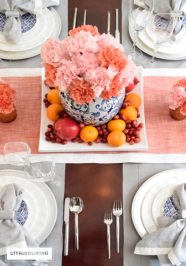 Pink and coral carnations mxake a gorgeous centrepiece for any time of year!
