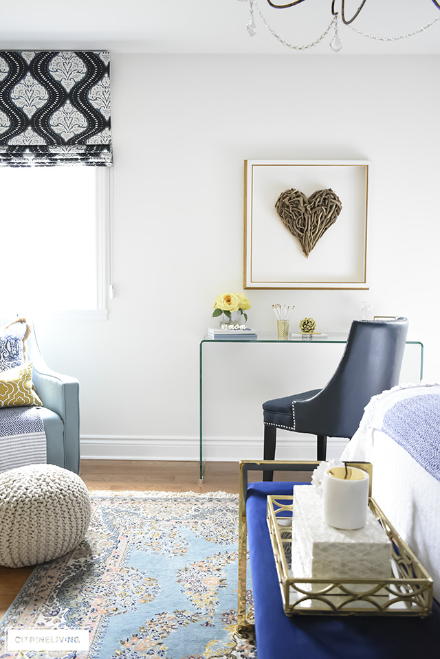 A Gorgeous Boho Glam Bedroom Makeover