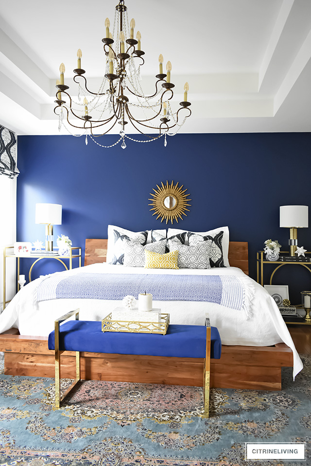 A GORGEOUS BOHO-GLAM BEDROOM MAKEOVER! on Modern Boho Bed Frame  id=97693