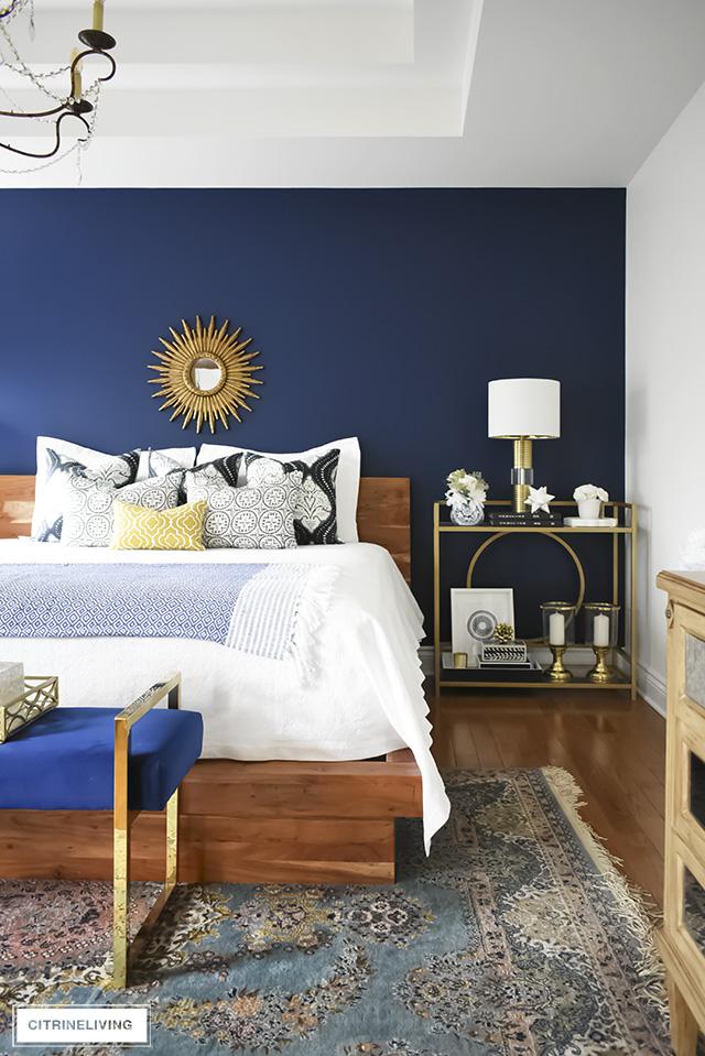 A Gorgeous Boho Glam Bedroom Makeover