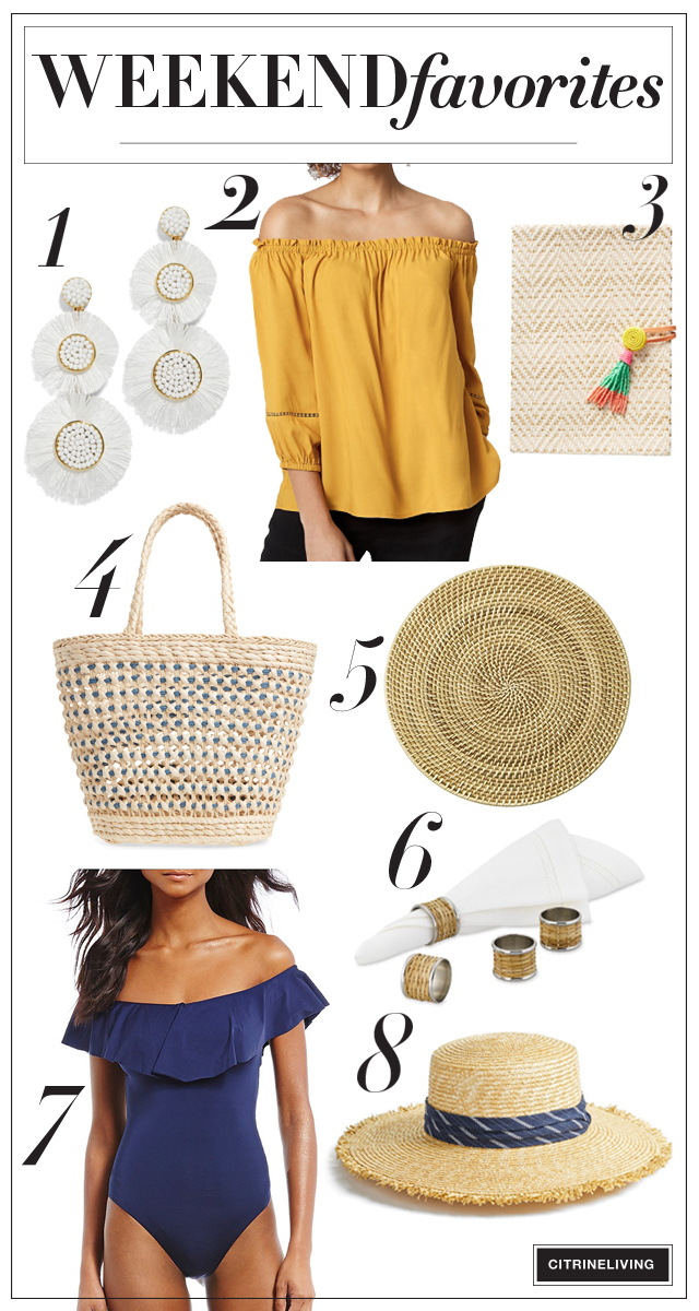 These gorgeous summer picks are perfect poolside, beachside or just about anyway you're going this summer! Check out my weekend favorites and sales!