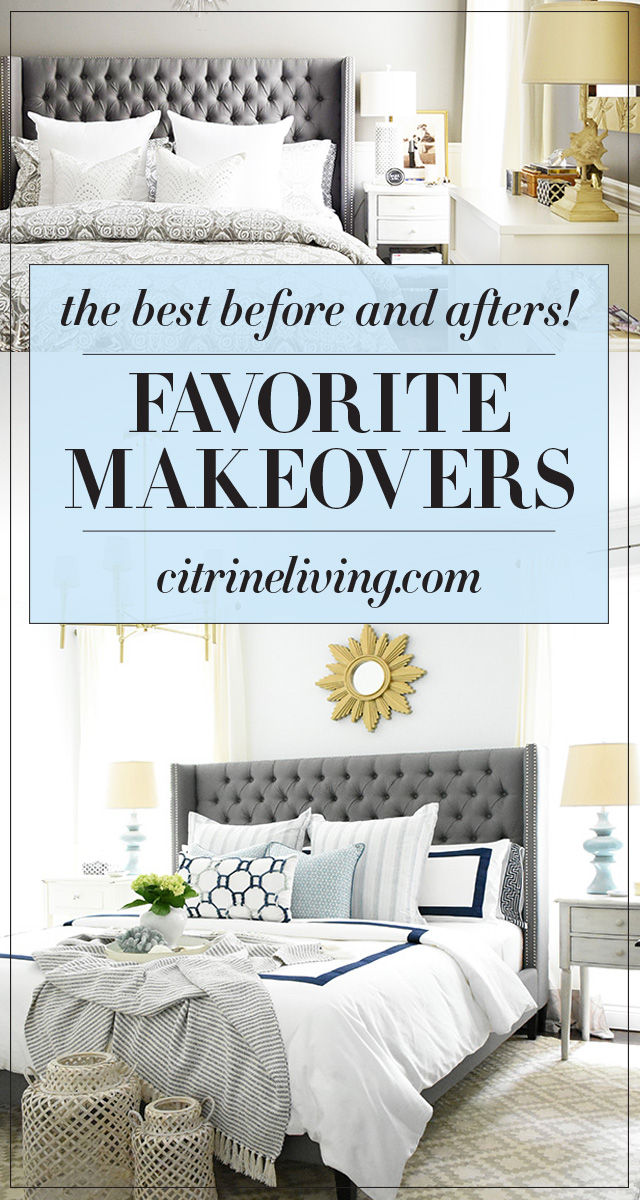 See these six favorite makeovers with gorgeous resluts! Bedrooms, bathrooms and an organized pantry, you'll want to use these ideas for your next makeover!
