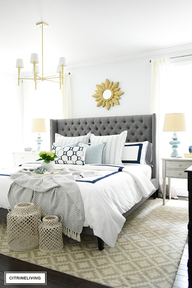 Favorite Makeovers - Beautiful master bedroom transformed into a bright and airy retreat.