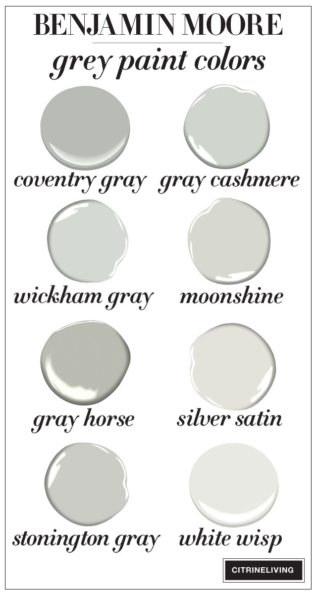 Benjamin Moore grey paint color