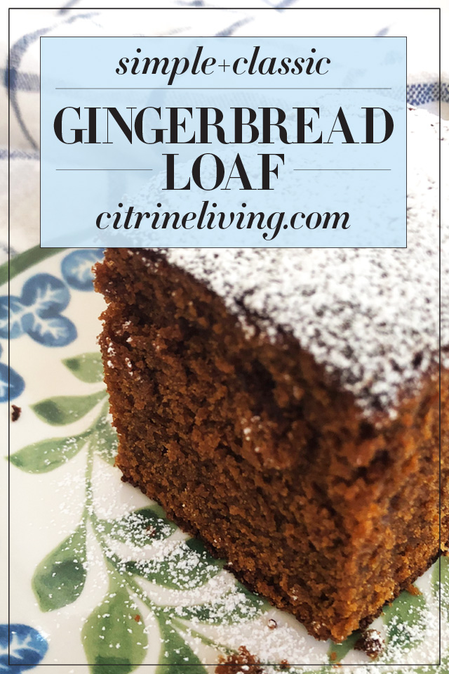 Classic gingerbread loaf recipe adapted from 'Favorite Old Fashioned Gingerbread', tweaked to add a slightly different flavor and consistency. So yummy!