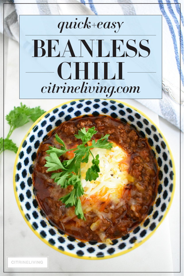 Quick And Easy Beanless Chili Recipe For Busy Moms